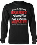 Proud Grammy of An Awesome Wrestler Long Sleeve T-Shirt