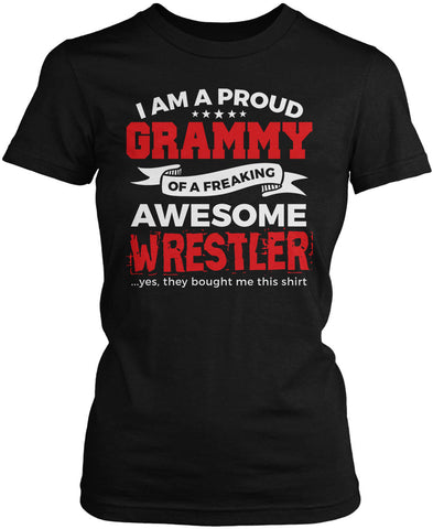 Proud Grammy of An Awesome Wrestler Women's Fit T-Shirt