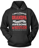 Proud Grandpa of An Awesome Wrestler Pullover Hoodie Sweatshirt