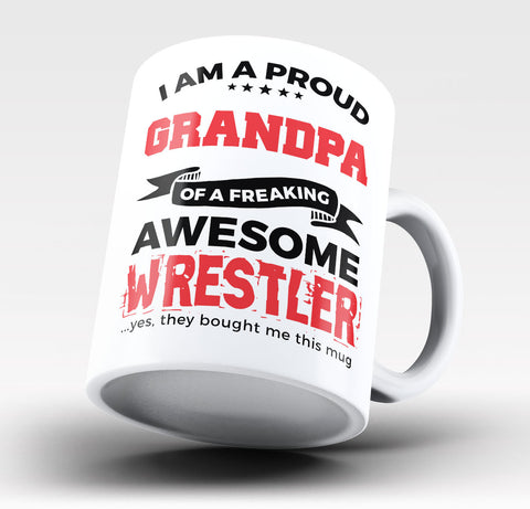 Proud Grandpa of An Awesome Wrestler Coffee Mug