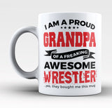 Proud Grandpa of An Awesome Wrestler - Mug