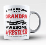 Proud Grandpa of An Awesome Wrestler - Coffee Mug / Tea Cup
