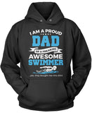 Proud Dad of An Awesome Swimmer Pullover Hoodie Sweatshirt
