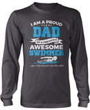 Proud Dad of An Awesome Swimmer Longsleeve T-Shirt