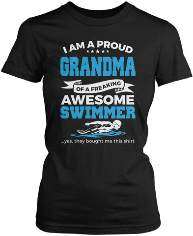 Proud Grandma of An Awesome Swimmer Women's Fit T-Shirt