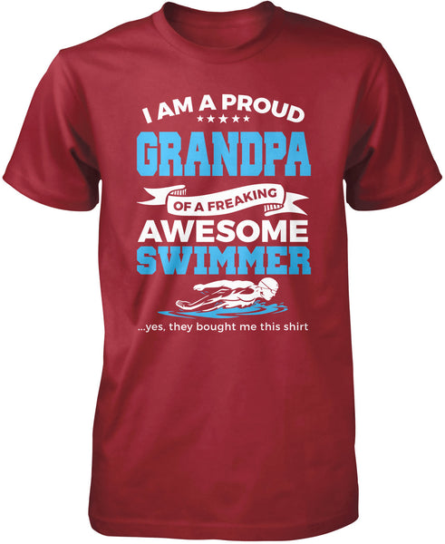 Proud Grandpa Of An Awesome Swimmer T Shirt