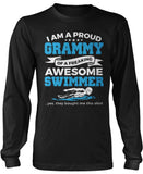 Proud Grammy of An Awesome Swimmer Long Sleeve T-Shirt