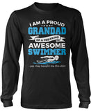 Proud Grandad of An Awesome Swimmer Long Sleeve T-Shirt