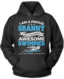 Proud Granny of An Awesome Swimmer Pullover Hoodie Sweatshirt