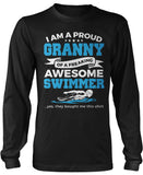 Proud Granny of An Awesome Swimmer Long Sleeve T-Shirt