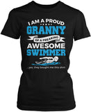 Proud Granny of An Awesome Swimmer Women's Fit T-Shirt