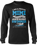 Proud Mimi of An Awesome Swimmer Long Sleeve T-Shirt