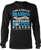 Proud Grandpa of An Awesome Soccer Player Long Sleeve T-Shirt
