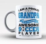 Proud Grandpa of An Awesome Soccer Player - Mug