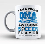Proud Oma of An Awesome Soccer Player - Mug