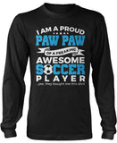 Proud Paw Paw of An Awesome Soccer Player Long Sleeve T-Shirt