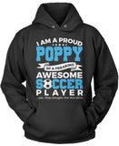 Proud Poppy of An Awesome Soccer Player Pullover Hoodie Sweatshirt