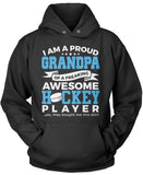 Proud Grandpa of An Awesome Hockey Player Pullover Hoodie Sweatshirt