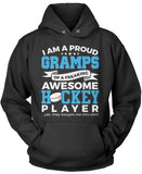 Proud Gramps of An Awesome Hockey Player Pullover Hoodie Sweatshirt