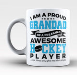Proud Grandad of An Awesome Hockey Player - Mug