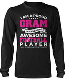 Proud Gram of An Awesome Football Player Long Sleeve T-Shirt