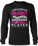 Proud Grammy of An Awesome Football Player Long Sleeve T-Shirt