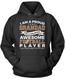 Proud Grandad of An Awesome Football Player Pullover Hoodie Sweatshirt