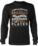 Proud Grandad of An Awesome Football Player Long Sleeve T-Shirt