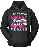 Proud Granny of An Awesome Football Player Pullover Hoodie Sweatshirt