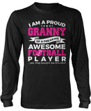 Proud Granny of An Awesome Football Player Long Sleeve T-Shirt