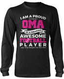 Proud Oma of An Awesome Football Player Longsleeve T-Shirt