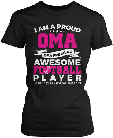 Proud Oma of An Awesome Football Player Women's Fit T-Shirt
