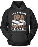 Proud Opa of An Awesome Football Player Pullover Hoodie Sweatshirt