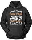 Proud Pawpaw of An Awesome Football Player Pullover Hoodie Sweatshirt