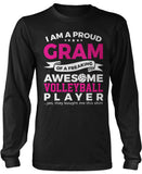 Proud Gram of An Awesome Volleyball Player Long Sleeve T-Shirt