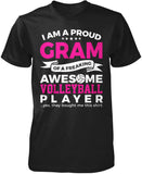 Proud Gram of An Awesome Volleyball Player T-Shirt