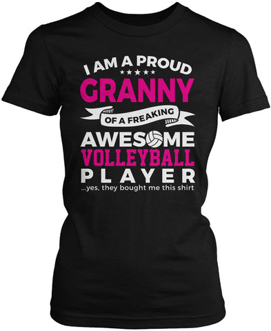 Proud Granny of An Awesome Volleyball Player Women's Fit T-Shirt