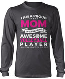 Proud Mom of An Awesome Volleyball Player Longsleeve T-Shirt