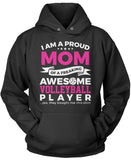 Proud Mom of An Awesome Volleyball Player Pullover Hoodie Sweatshirt