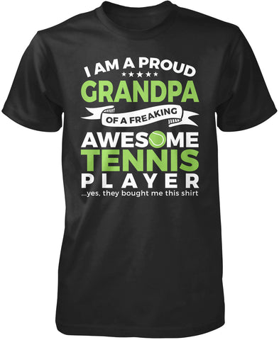 Proud Grandpa of An Awesome Tennis Player T-Shirt