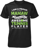 Proud Mamaw of An Awesome Tennis Player T-Shirt