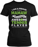Proud Mamaw of An Awesome Tennis Player Women's Fit T-Shirt