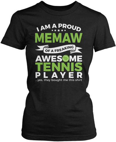 Proud Memaw of An Awesome Tennis Player Women's Fit T-Shirt