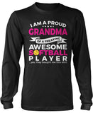 Proud Grandma of An Awesome Softball Player Long Sleeve T-Shirt