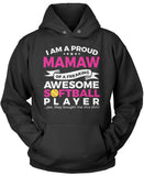 Proud Mamaw of An Awesome Softball Player Pullover Hoodie Sweatshirt