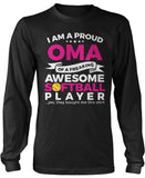 Proud Oma of An Awesome Softball Player Long Sleeve T-Shirt