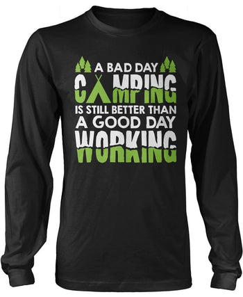A Bad Day Camping - T-Shirts