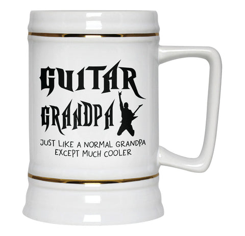 I'm a Guitar Grandpa Except Much Cooler - Beer Stein