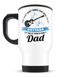 This Dad Loves His Guitars - Travel Mug