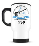 This Pop Loves His Guitars - Travel Mug